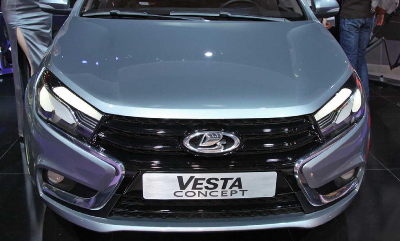 Вид спереди Lada Vesta