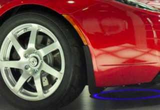 Зарядка будущих электромобиля без провода .